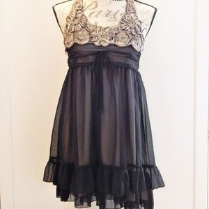 Charlotte Russe Romantic Boho Halter Dress Sz S